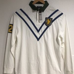 Polo Ralph Lauren White Classic Fit Cotton Rugby